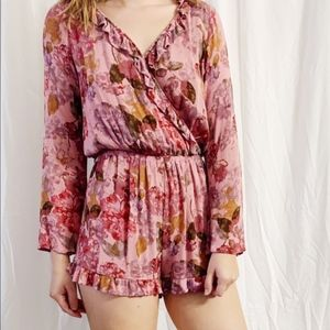 NWT Floral Mossimo Supply Co. Romper